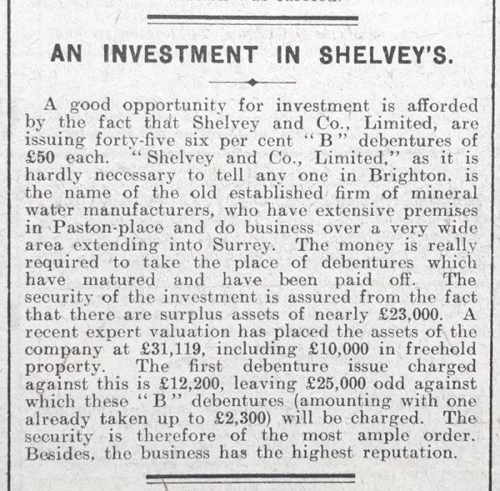 Brighton Herald Newspaper Clip - Dated 12-10-1912